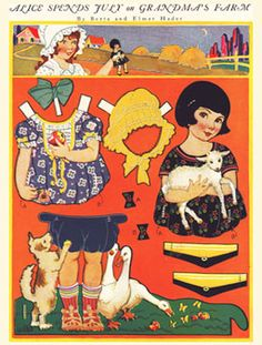 jane and jill paper dolls - Google Search