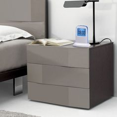GRAY NIGHTSTAND | Technology defines the 21th century and this is the best nightstand to nowadays challenges: big enough to be functional and storage all your belongings and clean to make serene master bedroom sets | www.bocadolobo.com #homedecor #interiordesign