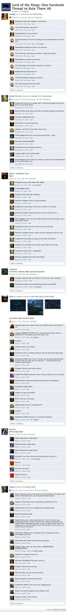 """LOTR: Facebook Thread... THE END IS THE BEST!!!!!!!  """"Omg, he just ran in!"""""""