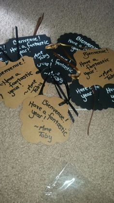 Back to school welcome tags...add to a water bottle!