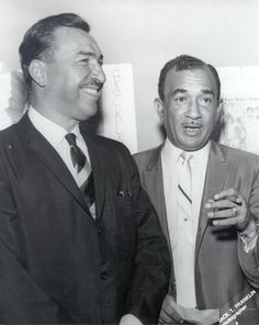 Adam Clayton Powell Jr and Cecil B. Moore. Undated. - Photo by Jack T. Franklin.
