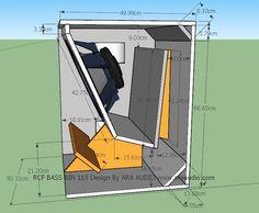 Skema box bassBin RCF 15 inch lapangan | ARA AUDIO Speaker Box Design, Subwoofer Box Design, Audio Box, Speaker Plans, Audio Amplifier, Speakers, Audio System, Som, Loudspeaker