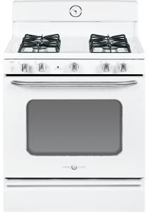 "GE - Artistry Series 30"" Freestanding Gas Range - White-on-White - Larger Front"