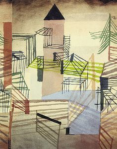 The School of Bauhaus/ Paul Klee - Festungsbau, 1921 Bauhaus, Augustin Lesage, Paul Klee Art, Oil Painting Reproductions, Watercolor Drawing, Wassily Kandinsky, Abstract Expressionism, Oeuvre D'art, Les Oeuvres