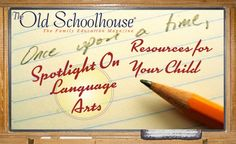 August's Spotlight on Five--Language Arts Resources for Your Child