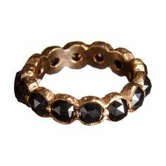 Nak Armstrong Rose Cut Grey Diamond Ring at Barneys.com