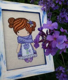 Easy Cross Stitch Patterns, Simple Cross Stitch, Stitch Doll, Crossstitch, Magic, Dolls, Crochet, Frame, Decor