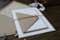 Rustic Modern Chic Wedding Invitation Simple & Elegant