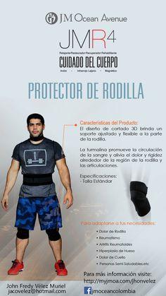 Gana fuerza en tu rodilla con el protector de rodilla de JM. Sirve para proteger tu rodilla cuando estas en el GYM, pero si te duele y te molesta puedes usarla constantemente para aliviar los dolores. http://myjmoa.com/jhonvelez/default