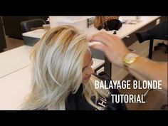 BALAYAGE BLONDE TUTORIAL - YouTube