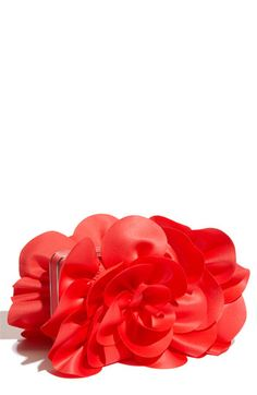 Sondra Roberts 'Rose' Satin Box Clutch