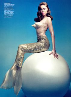 Mermaid Pearl Vogue Style Fashion……I see now where Madonna  got the idea!