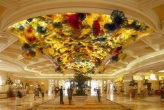 Bellagio Gardens ceiling in Las Vegas! Beautiful glass!