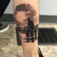 Family Tattoos For Men, Family Tattoo Designs, Tattoos With Kids Names, Couples Tattoo Designs, Tattoos About Kids, Name Tattoo Designs, Daddy Tattoos, Baby Name Tattoos, Father Tattoos