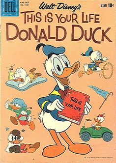 COMIC donald duck this is your life #comic #cover #art