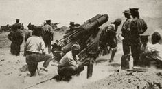 A British Battery In Action On The Gallipoli Peninsula. From The Great World War A History Volume Iii, Published 1916. Poster Print (19 x 10)