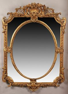 FRENCH GILTWOOD MIRROR WITH LATTICE CARVING & BEVELLED GLASS. 19th century-early 20th century. - H: 55 in. x W: 40 in.
