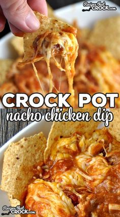 Crock Pot Nacho Chicken Dip – Recipes That Crock! Crock Pot Nacho Chicken Dip – Recipes That Crock!,Seasonal Food Inspirations It doesn't get much easier than this delicious Crock Pot Nacho Chicken Dip! Crock Pot Dips, Crockpot Dishes, Crock Pot Slow Cooker, Crock Pot Cooking, Slow Cooker Recipes, Cooking Recipes, Crockpot Meals, Crock Pots, Crock Pot Recipes