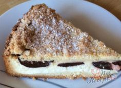 Linz cheesecake with plums NejRecept. Finger Foods, Tiramisu, Plum, French Toast, Pancakes, Cheesecake, Deserts, Cooking Recipes, Breakfast
