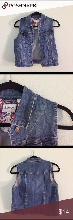 Forever 21 denim vest (medium) Only worn two times- runs slightly small. Durable and versatile. Forever 21 Jackets & Coats Vests