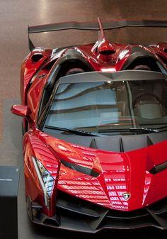 #Lamborghini #Veneno looking sharp in red. #Italian #SuperCars #Speed #Power #Style #Design #Cars #CarShowSafari