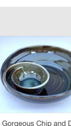 Chip & dip pottery platter