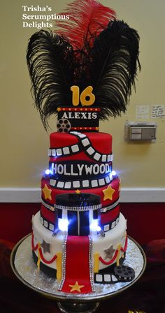 Hollywood themed cake By patricia stanish