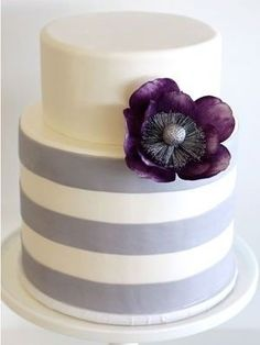 Purple and lilac wedding cake :) Simple and Elegant!