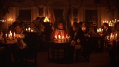 Candle light in Barry Lyndon