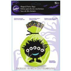 Shaped Bags 15/Pkg-Halloween Eyes - ValuCrafts.com