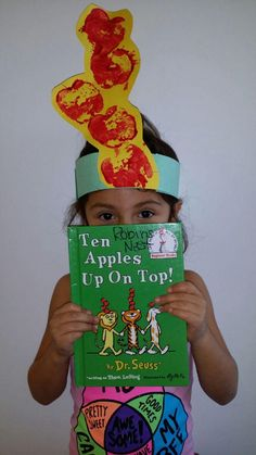 Seuss- Ten Apples Up On Top pre-k project! Apple prints You are in the right place about Dr Seus Preschool Apple Theme, Fall Preschool, Preschool Books, Preschool Apples, Dr Seuss Preschool Art, Preschool Teachers, Dr Seuss Activities, Book Activities, Sequencing Activities