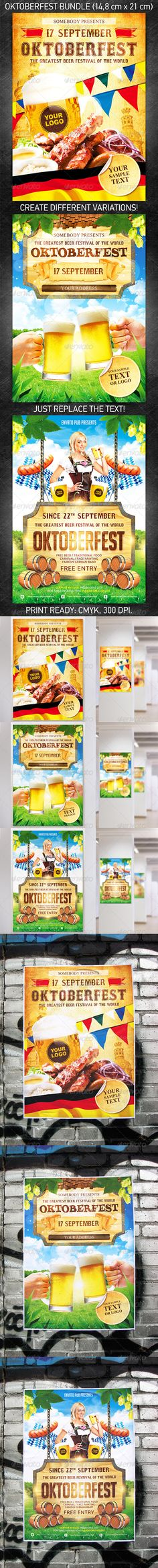 """Oktoberfest Festival Poster Bundle"" for announcement of your action devoted to celebrating of Oktoberfest festival or for any other party in your bar/pub.  You can download and learn more about this PSD template at the following link –  http://graphicriver.net/item/oktoberfest-festival-poster-bundle/5394430?ref=4ustudio   More flyers and posters here: http://graphicriver.net/user/4ustudio?ref=4ustudio   Save your money buying bundle!"