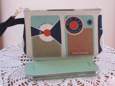 Clutch Wristlet Zipper Gadget Pouch Purse in Transistor Radio - pinned by pin4etsy.com