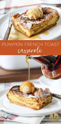 This overnight Pumpkin French Toast Casserole is a delicious and easy fall breakfast recipe! This overnight Pumpkin French Toast Casserole is a delicious and easy fall breakfast recipe! Fall Breakfast, Breakfast Dishes, Breakfast Recipes, Gourmet Breakfast, Mexican Breakfast, Banana Breakfast, Breakfast Sandwiches, Breakfast Pancakes, Fall Recipes