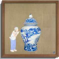 My Blue Roar Liu DAO Mixed Media: RGB LED display acrylic painting paper collage teakwood frame 2016 Contemporary Art Artists, Chinese Contemporary Art, Chinese Art, Chinese Paper Cutting, Chinese Paper Lanterns, Chinese Ceramics, Inspirational Artwork, Painted Paper, Pattern Paper
