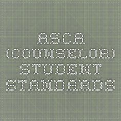 ASCA (Counselor) Student Standards