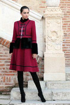 Fusta romaneasca stofa - Eleganta Lace Skirt, Costume, Skirts, Jackets, Clothes, Beauty, Folk, Style, Fashion