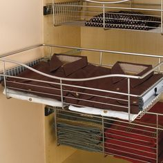 """Rev-A-Shelf Pullout Wire Basket 24"""" W X 14"""" D X 7"""" H CB-241407CR-5    37% OFF Order Today! Shop and Save @ CabinetParts.com"""