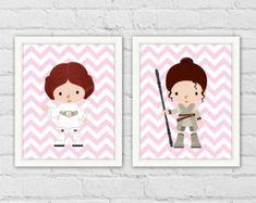 Princess Leia Rey Star Wars Girl Nursery Decor. Darth Vader