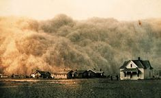 How The Great Food War Will Be Won [Article] Pictured: Dustbowl and soil erosion USA, 1935's