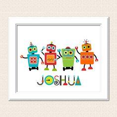 Printable Robot Wall Art DIY Personalized Art  Digital Printable Art -  8 x 10 $8.74