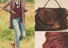Burgundi Casual Style: burgundi is a particular kind of bordeaux and it's perfect for autumn and winter. This is our outfit's propose with Burgundi Mialuis Bag #outfitideas #mialuis