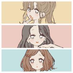 Bff Drawings, Anime Couples Drawings, Girl Cartoon, Cartoon Art, Chino Anime, Dibujos Cute, Cute Art Styles, Sad Art, Anime Best Friends