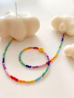 Beaded Choker Necklace, Seed Bead Necklace, Diy Necklace, Necklace Designs, Seed Beads, Handmade Beaded Jewelry, Handmade Bracelets, Beaded Bracelets, Pulseras Kandi