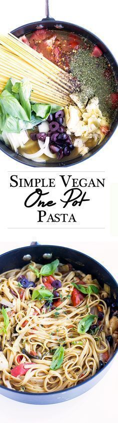 � Vegan On A Budget � Delicious Vegan One Pot Pasta. Simple, minimal wash up, made in under 20 minutes.