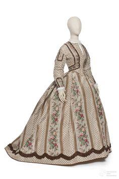 Day dress, 1860 From Les Arts Décoratifs via Europeana Fashion