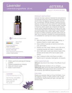 doTERRA Lavender