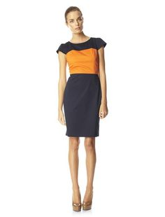 French Connection stretch-cotton fitted shift dress is a smart style that will take you from the boardroom to the bar. Pair with nude heels and a statement bag for a look that means business. Carlotta Sateen Dress has a round neck, cap sleeves, contrast band at bust and an exposed zip at back.