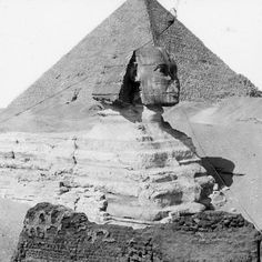 Giza, Egypt - Great Sphinx and Great Pyramid
