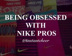 It's all about the big bows and the Nike pros! #cheerleading